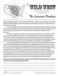 history of the louisiana purchase social studies worksheets