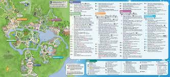 Disney World Orlando Park Map by Highstar Travel Group U003e Helpful Information