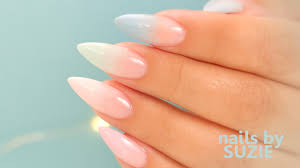 pastel color fade acrylic nails step by step tutorial youtube
