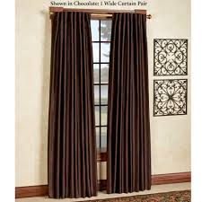 Pow Shower Curtain by Ming Faux Silk Back Tab Wide Curtains
