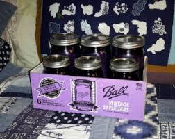 purple jar set etsy