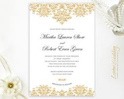 Damask Wedding Invitations Damask Invitations Etsy