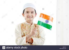 Holding The Flag Muslim Boy Holding The Indian Flag Stock Photo Royalty Free Image