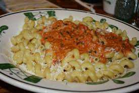 Five Cheese Marinara Sauce On Cavatappi Pasta With Chicken Meatballs - cheezilla all of garden one man s quest to eat all the pasta