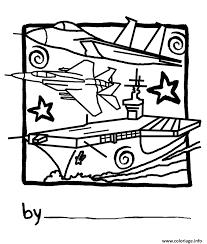 Coloriage porte avion 40  JeColoriecom