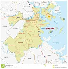 Massachusetts State Map by Boston Administrative Map Stock Illustration Image 70581011