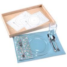 table setting activity montessori services