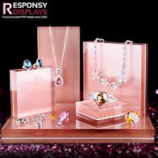 color necklace display images Custom made acrylic luxury jewelry display stands racks jpg