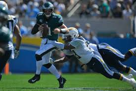 eagles versus chargers in game los angeles chargers