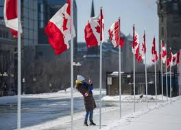 Candaian Flag Trudeau Chrétien Celebrate 50 Years Of Canadian Maple Leaf Flag