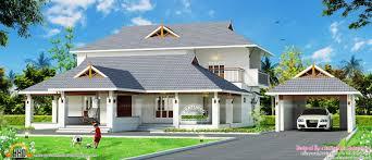 kerala traditional mix home separate garage design house plans kerala traditional mix home separate garage design