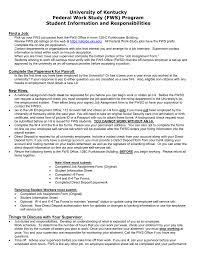 Assignment Form University Of Kentucky Federal Work Study Fws Program Student