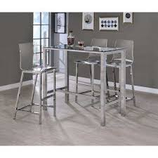 Acrylic Bar Table Clear Kitchen Dining Room Furniture Furniture The Home Depot