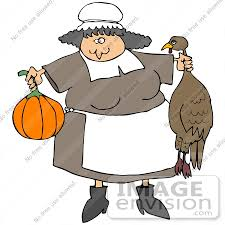 clip graphic of a pilgrim cooking thanksgiving dinner