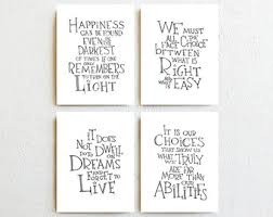 wedding quotes harry potter albus dumbledore quotes wall decor set of 3 harry by simpleserene