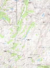 Map Of Yosemite Jack Main Canyon Tilden Lake Wilmer Lake Hiking Map Yosemite