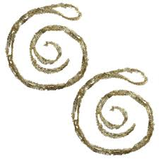 gold and silver tinsel garlands set of 2 christmas tree shops