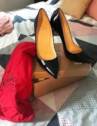 christian louboutin so kate 120mm black patent pump high heels