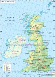 Britain Map Britain Map Highlights The Part Of Uk Covers England Wales And