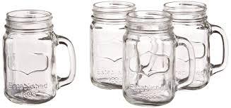 amazon com yorkshire mason jar mug 17 5 oz 4 pieces mason