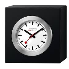 mondaine desk clock swiss made direct