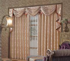 Dining Room Drapes Interior Curtain With Valance And White Over Blind Combined With
