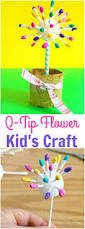 easy flower crafts for kids adorable q tip flower