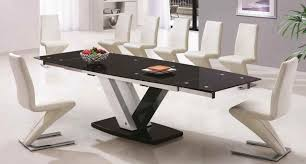 Glass Dinner Table Dinning Large Dining Table 10 Seater Dining Table Narrow Dining