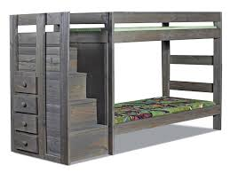 Bunk Beds Pine Pine Crafter Walnut Grp Wal49411 Strcase Tw Tw Bunk Staircase