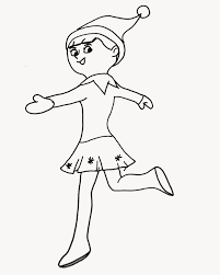 elf shelf coloring pages inspiring celebrate christmas