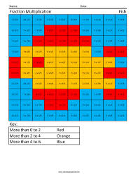 colour by number fractions coloring squared fractions and my