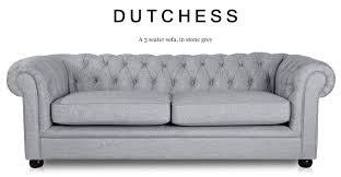Fabric Chesterfield Sofa Bed Dutchess 3 Seater Chesterfield Fabric Sofa Grey Addition