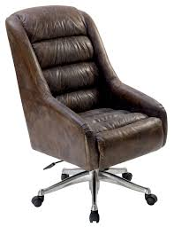 Leather Swivel Chair Furniture Brown Leather Swivel Chair For Home Furniture Idea