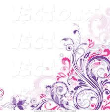 11 purple butterfly corner border designs images purple flower