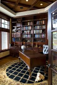 Coffered Ceiling Lighting by Ladder Shelf Ikea Home Office Traditional With Beautiful Ceiling