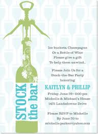 stock the bar invitations stock the bar bridal shower invitations stock the bar