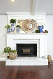 painting fireplace bricks pictures how whitewash brick makeovers