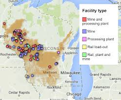 Wisconsin Rapids Map by 350 Stevens Point Addresses Wisconsin Frac Sand Mines The Pointer