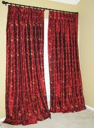 Faux Silk Embroidered Curtains Custom Made Embroidered Faux Silk Curtains By Drea Custom Designs