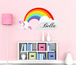 Name Wall Decals For Nursery by Girls Name Rainbow Wall Decal By Decor Designs Decals Unicorn Decals