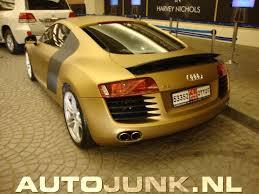 Audi R8 Gold - dubai mall of the emirates r8 gold mat foto u0027s autojunk nl 27722