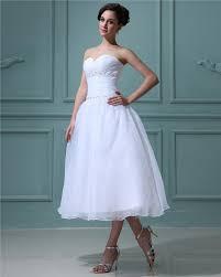 gã nstig brautkleid vintage weiß brautkleider kurz a linie organza hochzeitskleider