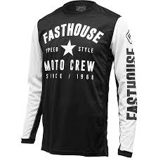 new jersey motocross new fasthouse mx gear l1 speed style black white vented motocross