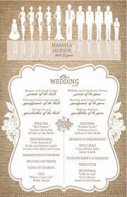 burlap wedding programs burlap and lace wedding programs ceremony programs wedding