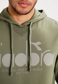 diadora down jacket diadora hoodie green mushroom men clothing