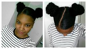weave on short afro hair 2 buns on short natural hair protective style with weave youtube