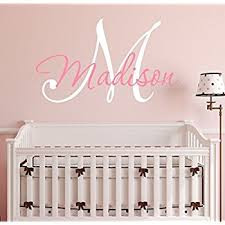 amazon com custom name monogram wall decal nursery wall decals