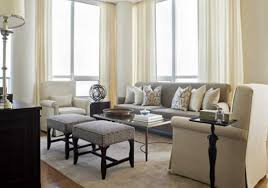 interior warm neutral living room colors with beige wall painting
