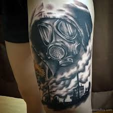 gas mask on thigh designs pictures
