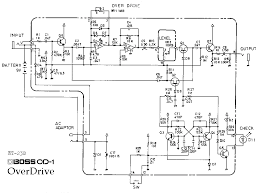 boss od 1 overdrive guitar pedal schematic diagram